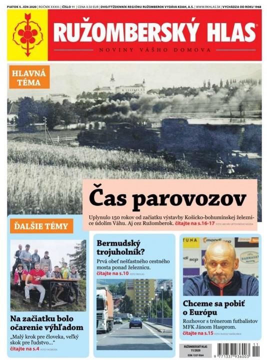 Titulná strana aktuálneho vydania Ružomberského hlasu.
