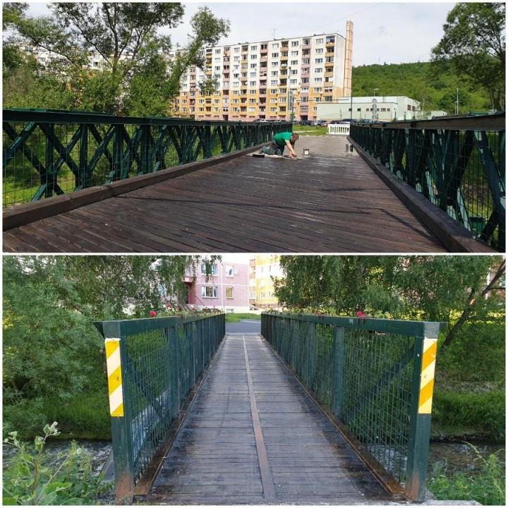 Most pri Opavskej a lávka pri Senickej ulici.