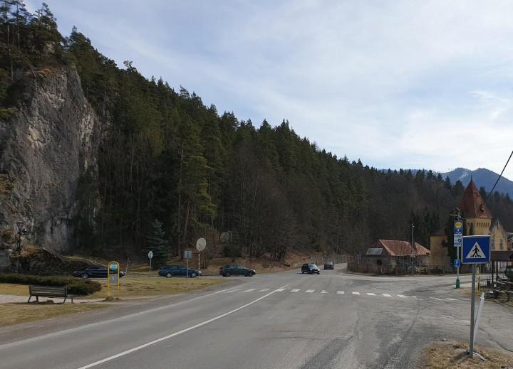 Lokalita, kde by chceli vybudovať okružnú križovatku.