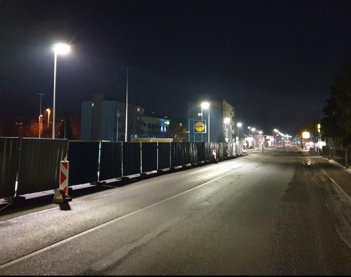 Nové osvetlenie na ulici SNP.