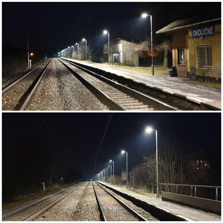 Nové osvetlenie v Okoličnom.