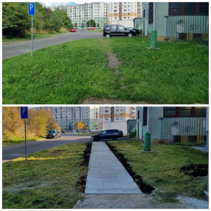 Situácia pred a po vybudovaní.